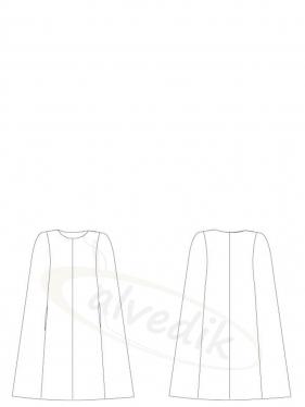 Pelerin Panço Palto Kalıbı K-9015 Beden:36/46
