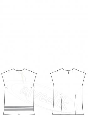 Bluz Kalıbı K-2100 Beden:34/52