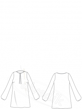 Tunik Kalıbı K-2065 Beden:34/52