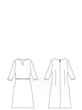 Kışlık Elbise Kalıbı K-7030 Beden:34/52