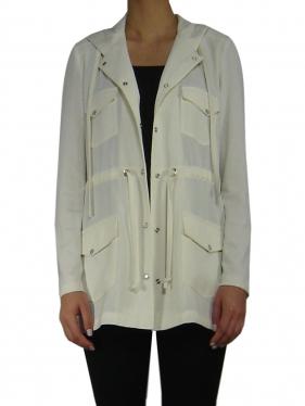 Hooded Long Jacket Form K-9070