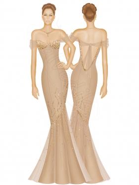 Abiye Elbise Tasarımı TS-3425