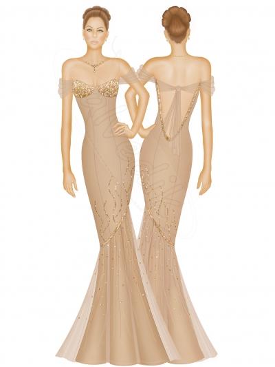 6a9c639fa58ce Abiye Elbise Tasarımı TS-3425