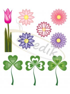 Vektörel Çiçekler V-3575