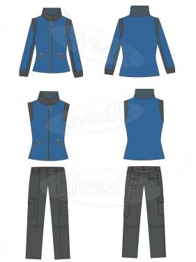 Coat Trousers Vector AI V-3710