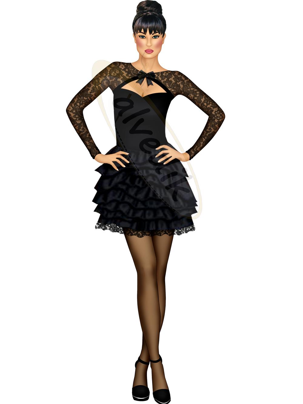 8dd4692bd492a Siyah Abiye Elbise Tasarımı TS-3475 ...