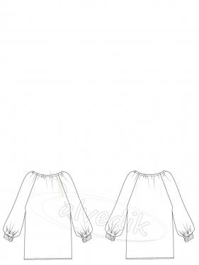 Büzgülü Şifon Gömlek Kalıbı K-2080 Beden:34/52
