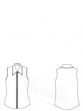 Chiffon Shirt Pattern K-2050
