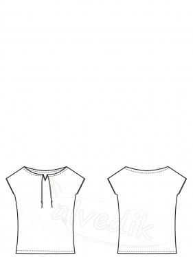 Bluz Kalıbı Penye K-3060 Beden:34/52