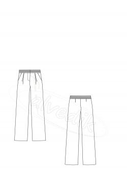 Bol Paça Pantolon Kalıbı  K-5040 Beden:34/44