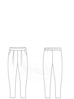 Şalvar Pantolon Kalıbı K-5060