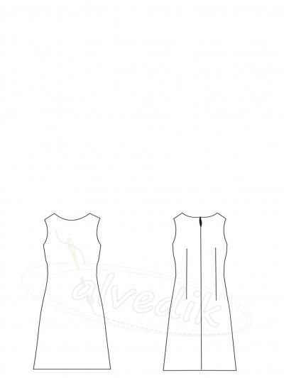 8686ba7beeeb0 Ürün Adı: Likralı Kumaş Elbise Kalıbı K-7020 Beden:34/52