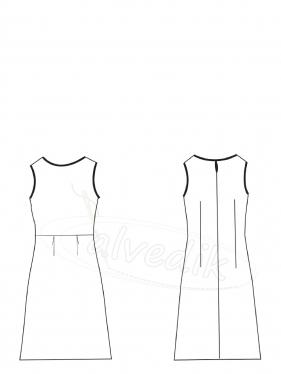Kolsuz Elbise Kalıbı K-7050 Beden:34/52