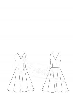 Kloş Elbise Kalıbı K-7090