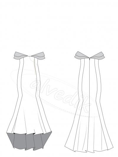 6da9587d16cea Abiye Elbise Kalıbı K-7120
