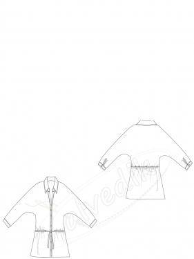 Yarasa Kol Gömlek Kalıbı K-2075 Beden:34/52