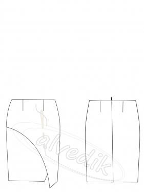 Etek Kalıbı Tasarım K-6045