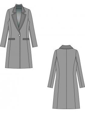 Kaşe Uzun Kaban Palto Kalıbı K-9060