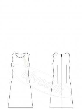 Elbise Kalıbı Keçe K-7025 Beden:34/52