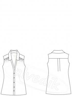 Kolsuz  Şifon Gömlek Kalıbı K-2060     Beden:34/52