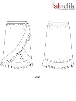 Огибающая юбка K-6046