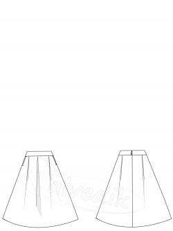 Uzun Kloş Etek Kalıbı K-6090