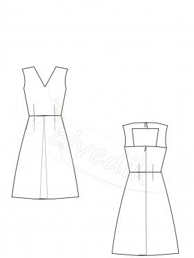 Yazlık Elbise Kalıbı K-7130 Beden:34/44
