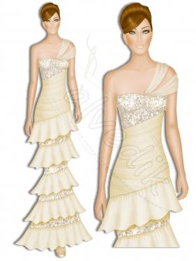 Abiye Kıyafet Tasarımı TS-3405