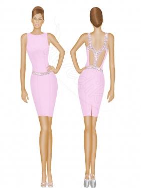 Gece Elbisesi Tasarımı TS-3420