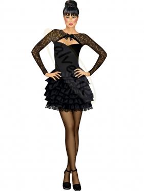 Siyah Abiye Elbise Tasarımı TS-3475