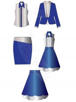 Женская одежда Векторная графика…