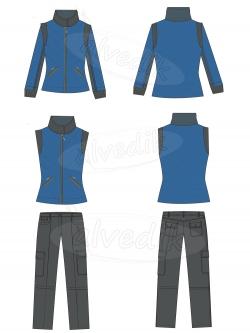Куртка брюки Векторная графика…