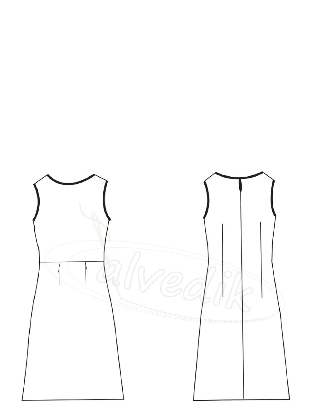 4bd92f750cf6d Ürün Adı: Kolsuz Elbise Kalıbı K-7050 Beden:34/52