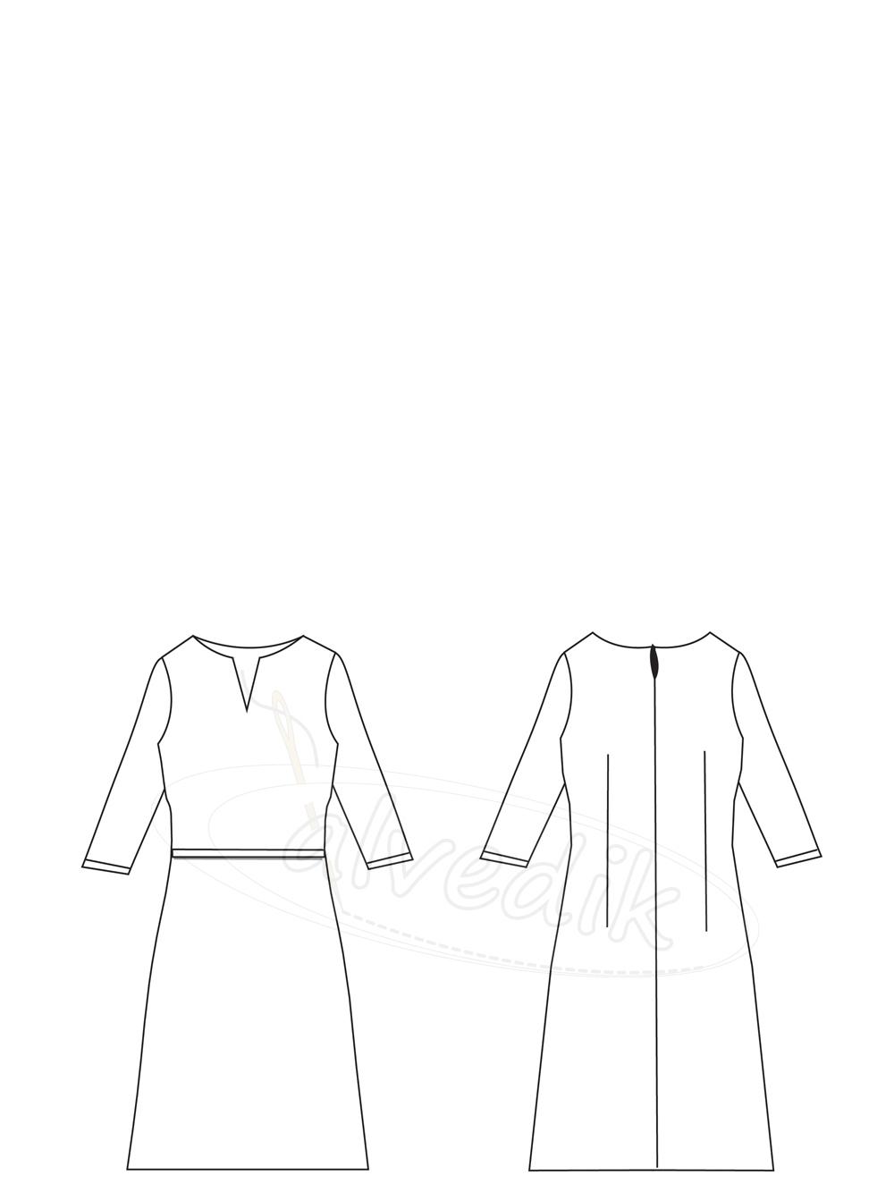 59cbdfec2ae71 Ürün Adı: Kışlık Elbise Kalıbı K-7030 Beden:34/52